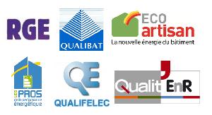 Certifications : RGE, QUALIBAT, ECO artisan, ...